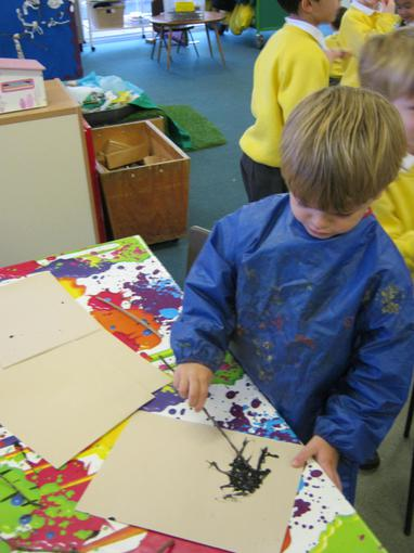 We also painted and wrote with sticks