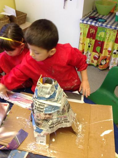Our volcano taking shape