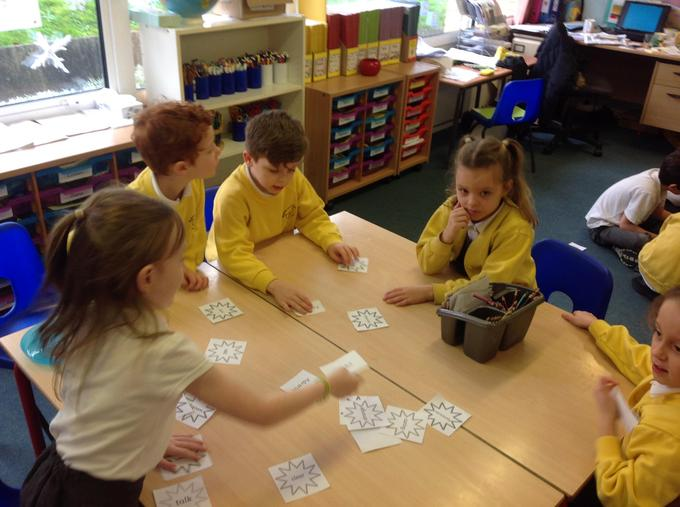 We talked about verbs, adjectives, nouns & adverbs