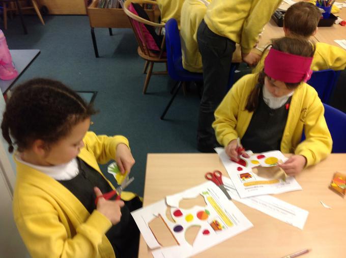 Practising our fine motor skills