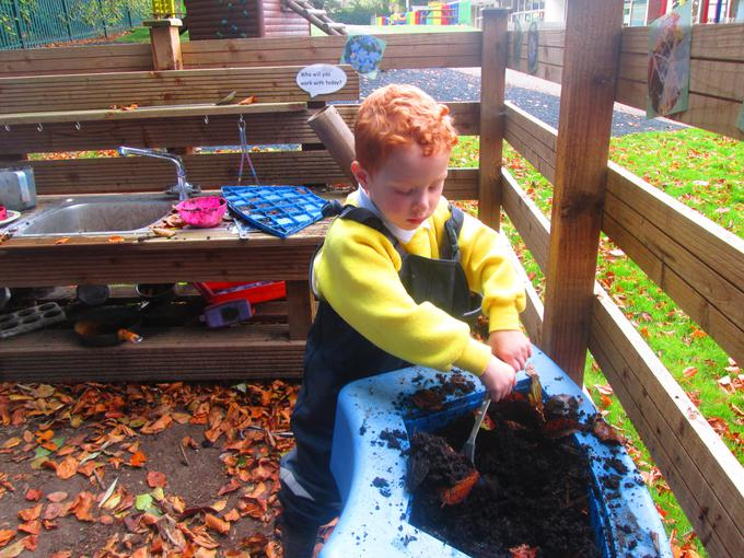 Cooking in the Mud Kitchen