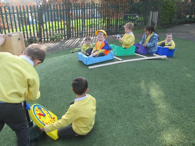 Role play outdoors