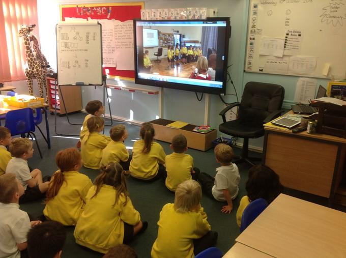 Watching our class assembly!