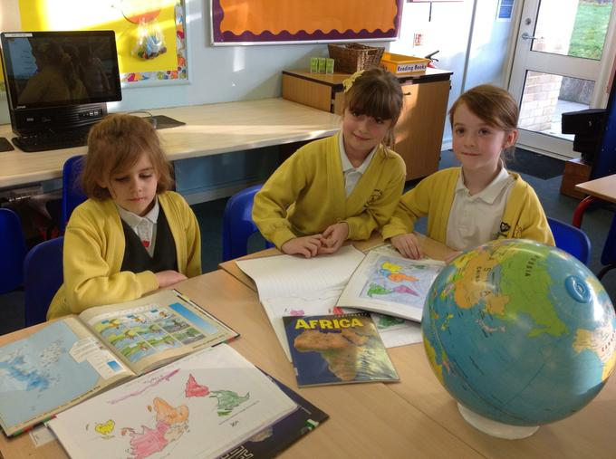 Learning the different continents in geography