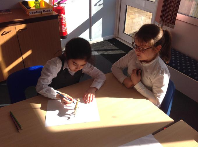 investigating how shadows change