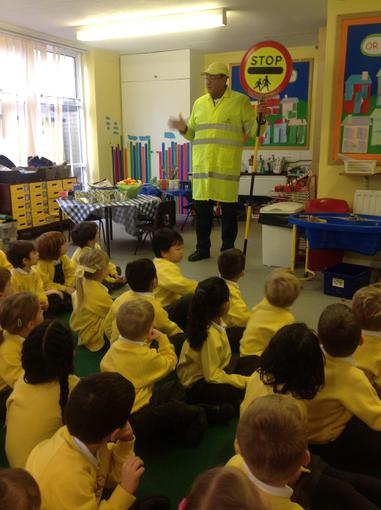 visit by our own Lollipop man!
