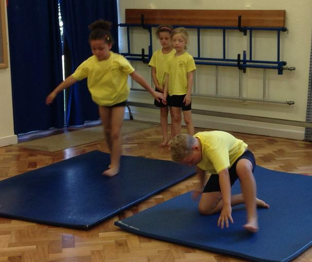 Look at our gymnastics skills!