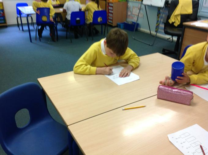 Concentrating on our learning!