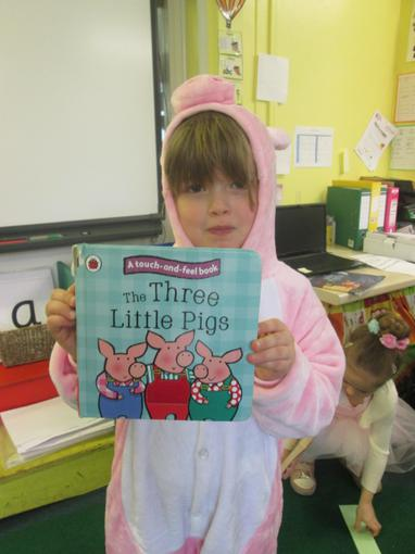 """""""I'm one of the pigs from The Three Little Pigs"""""""