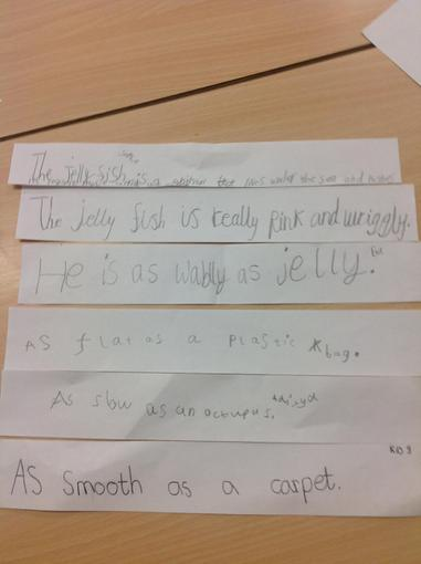 Our group poetry describing jellyfish