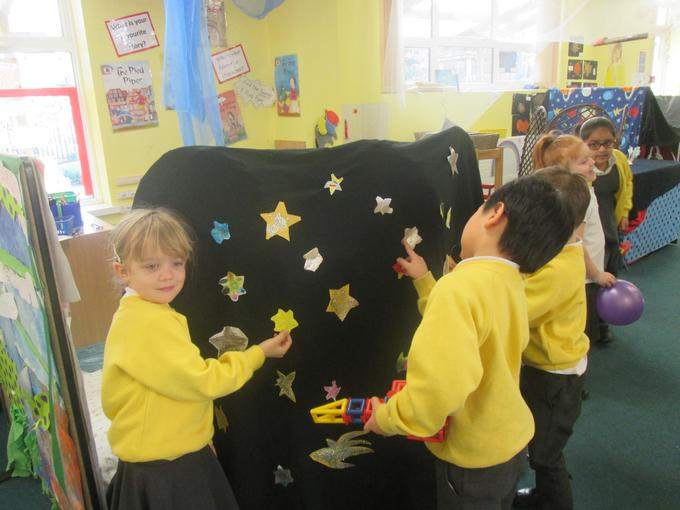 Preparing the backdrop for our assembly