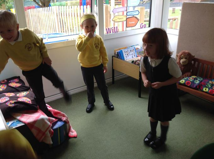 Acting out Jack and the Beanstalk