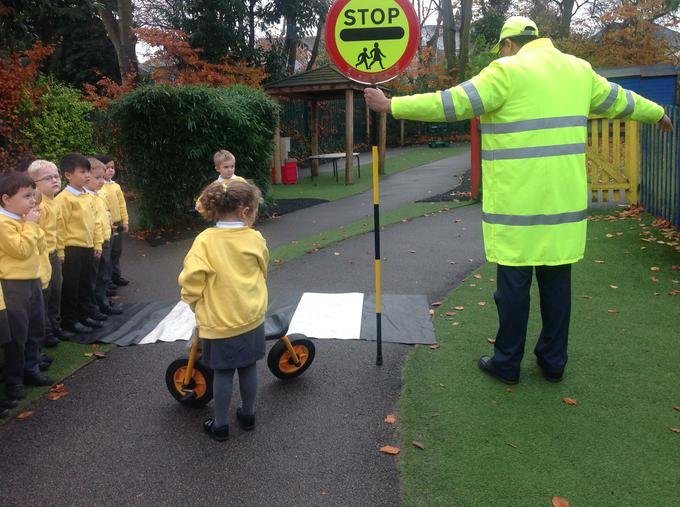 He talked to us about how to cross the road safely