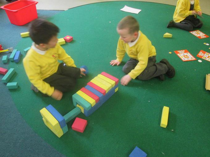 Making a garage using 3D shapes