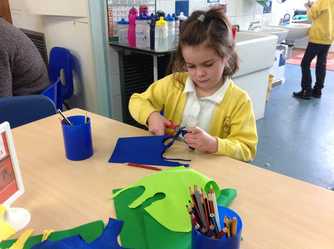 Creating finger puppets
