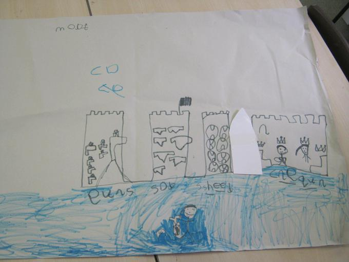 We drew pictures of castles and labelled them