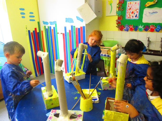 We then painted our submarines