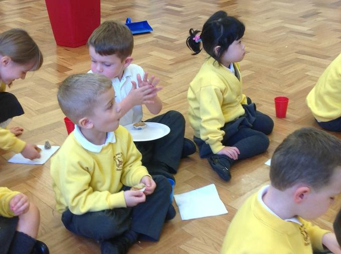The children enjoyed the food tasting