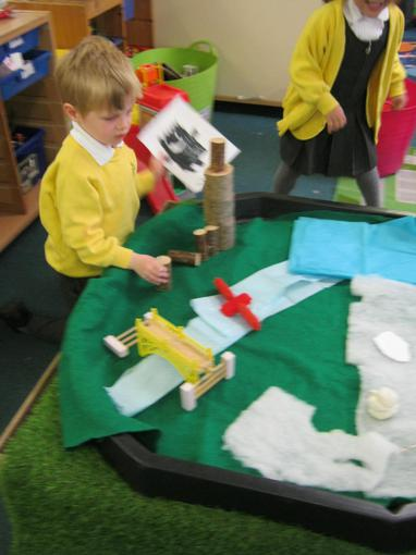 We built up our small world area