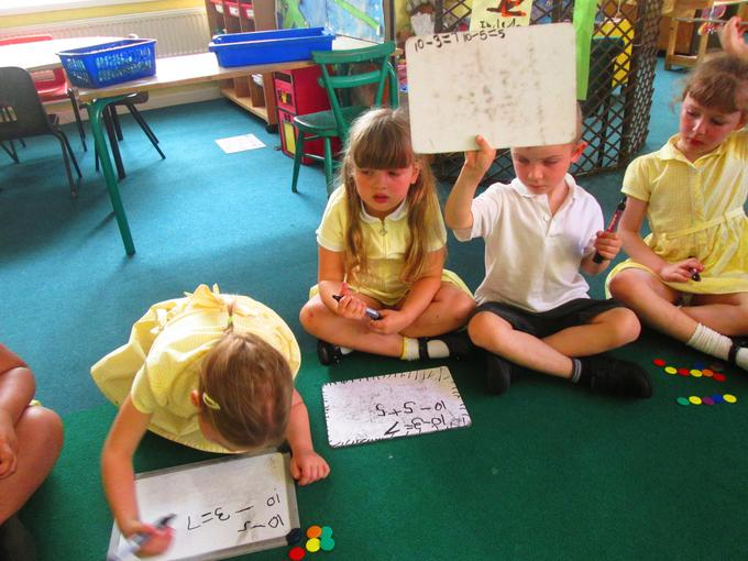 We are learning to record our calculations