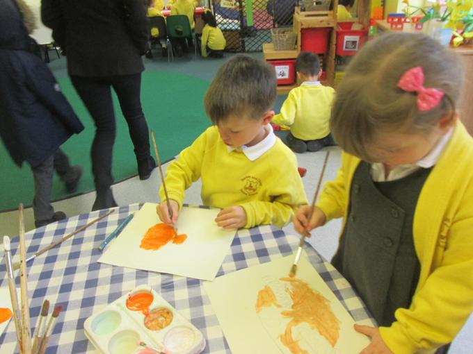 Painting animals for Mr. Gumpy's motor car