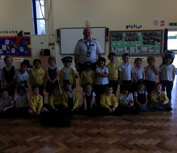 We had a visit from a police officer