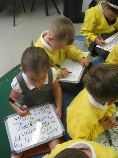 We are beginning to learn about letter formation
