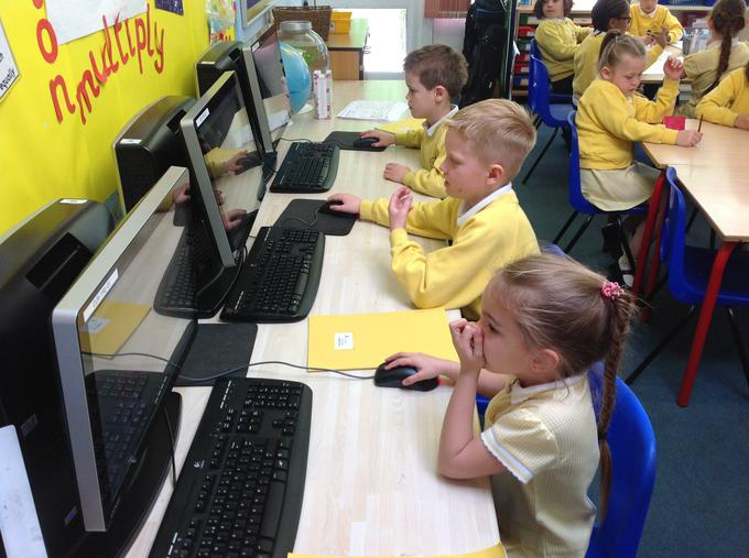 using the computers in maths