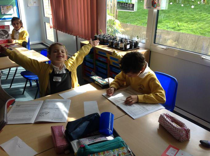Enjoying our spelling!