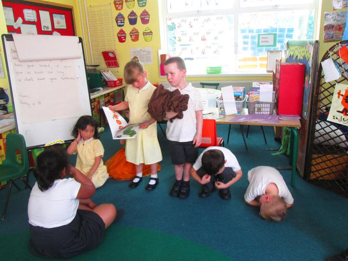 Acting out The Hungry Caterpillar