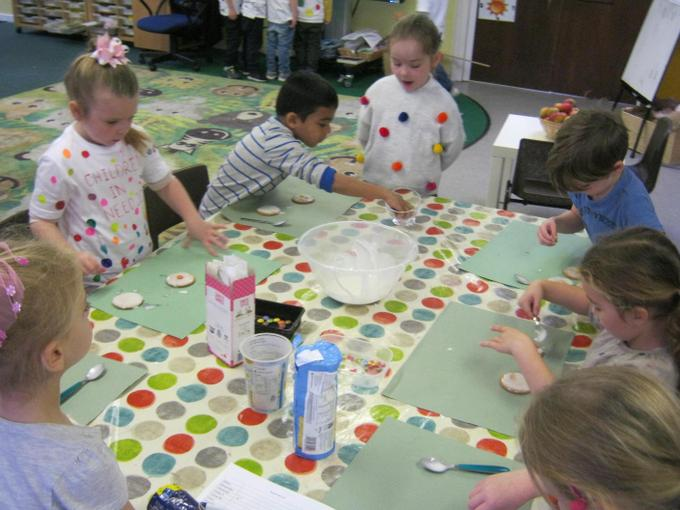 We decorated biscuits for Children in Need