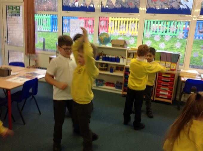 creating our story freeze frames