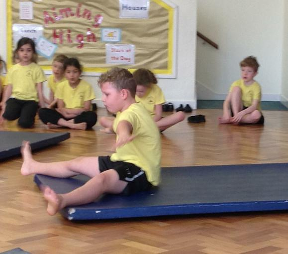 Taking part in our gymnastics competition