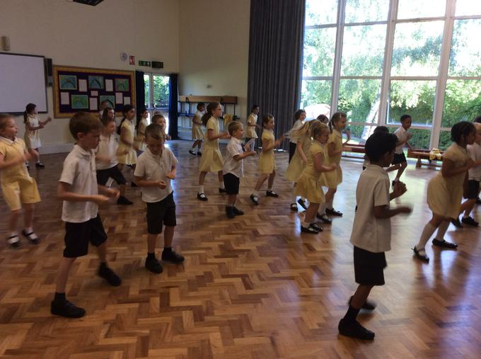 Warming up for our dance workshop