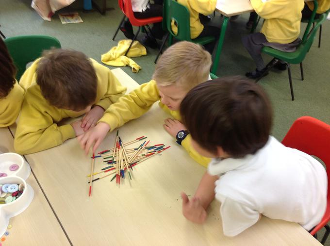 Having a game of pick up sticks
