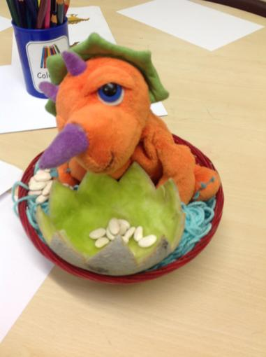 Meet Trixie our new pet dinosaur