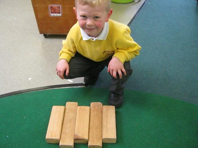 Repeating patterns using blocks
