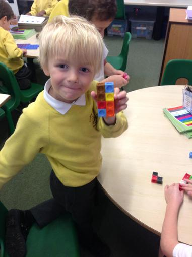 Making shapes with cubes