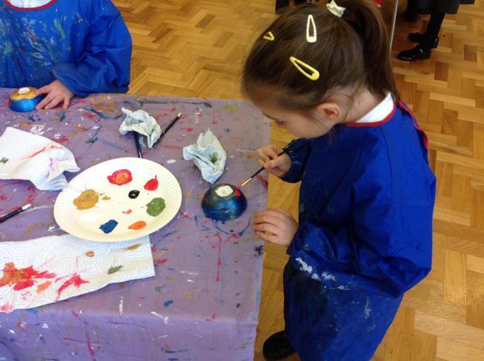 Decorating carefully!
