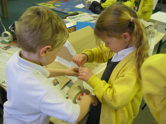 Working together to make a bear cave