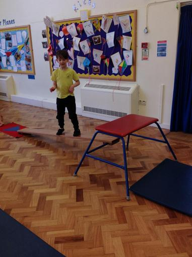 Our gymnastics session