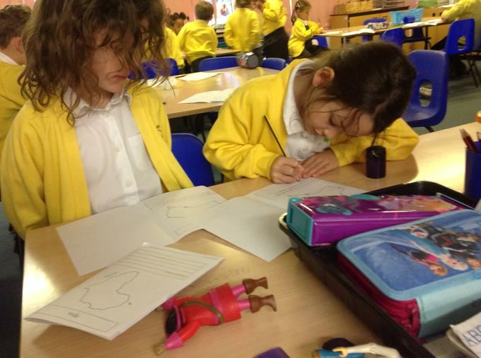 Creating our 'continent fact-files'
