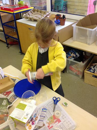 We made our own musical instruments