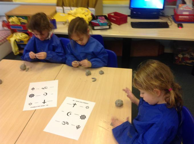 Making our clay symbols