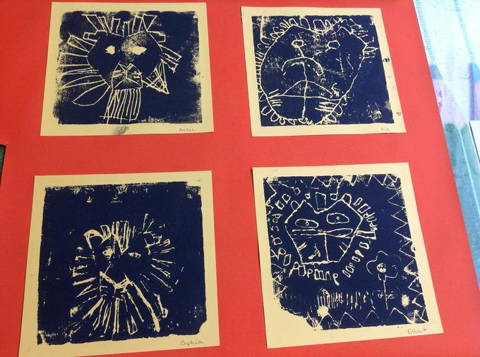 Look at our lion printing!
