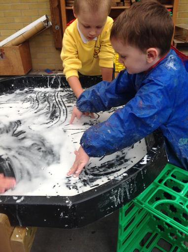 Cornflour - messy fun
