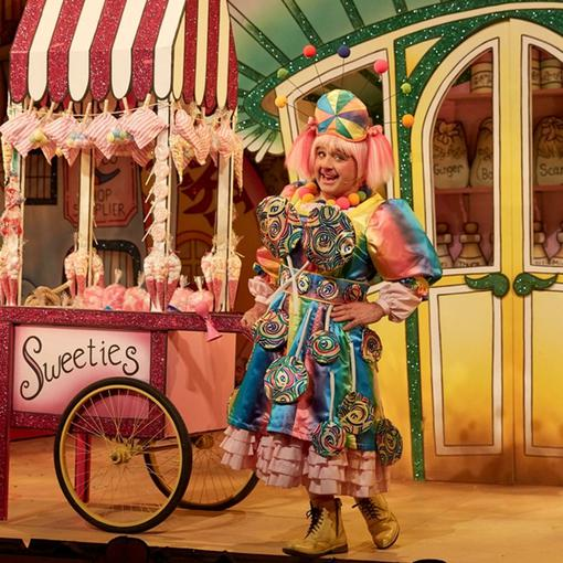 Betty from Beauty and the Beast at the Panto