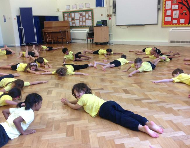 turning our bodies into different shapes