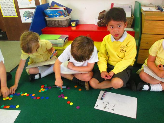 Working out subtraction calculations