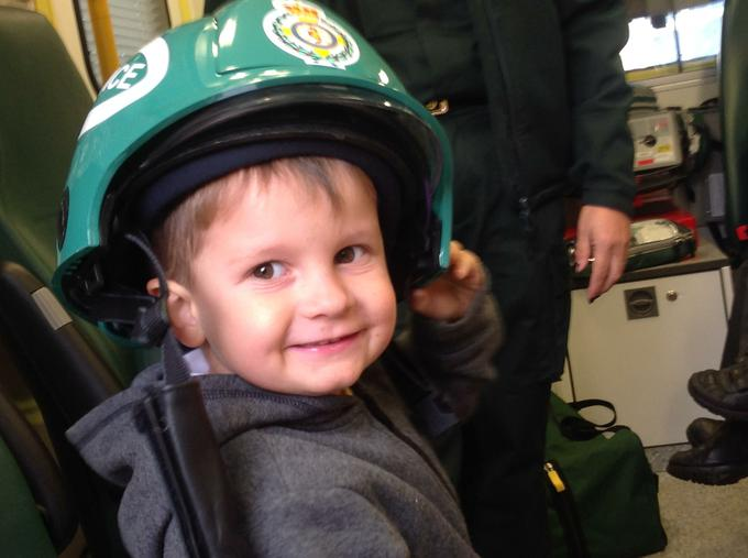 We saw the safety helmet paramedics may wear